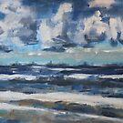 Wolken über Ostende an einem Frühlingstag von Christel  Roelandt