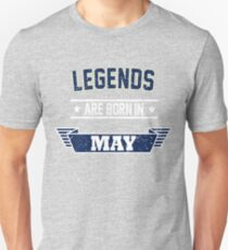Birthday Boy's Tee - Vintage Legends are Born in May T-Shirt Unisex T-Shirt