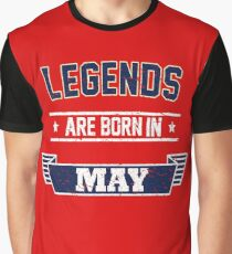 Birthday Boy's Tee - Vintage Legends are Born in May T-Shirt Graphic T-Shirt