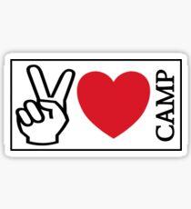 Peace Love Camp Sticker