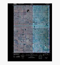 USGS TOPO Map Iowa IA Malcom 20100511 TM Inverted Photographic Print