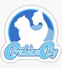 Cerulean City Gym (Blue) Sticker