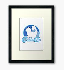 Cerulean City Gym (Blue) Framed Print