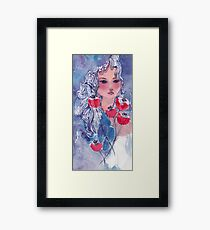 Tulips Girl  Framed Print