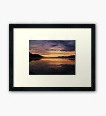 Ushuaia Harbour early morning light Framed Print