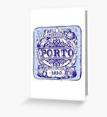 Azulejo Porto Lisbon Azulejos Lisboa Greeting Card