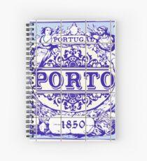 Azulejo Porto Lisbon Azulejos Lisboa Spiral Notebook