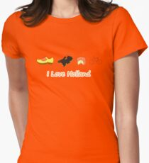 I Love Holland The Netherlands T-Shirt Women's Fitted T-Shirt