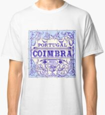 Traditional Portugal Ceramic Coimbra Vintage Vector Illustration Classic T-Shirt