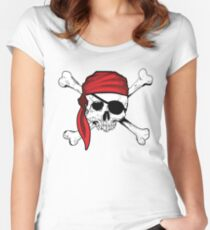 Jolly Roger Pirate Shirt - Pirates Shirts for any occasion  Women's Fitted Scoop T-Shirt