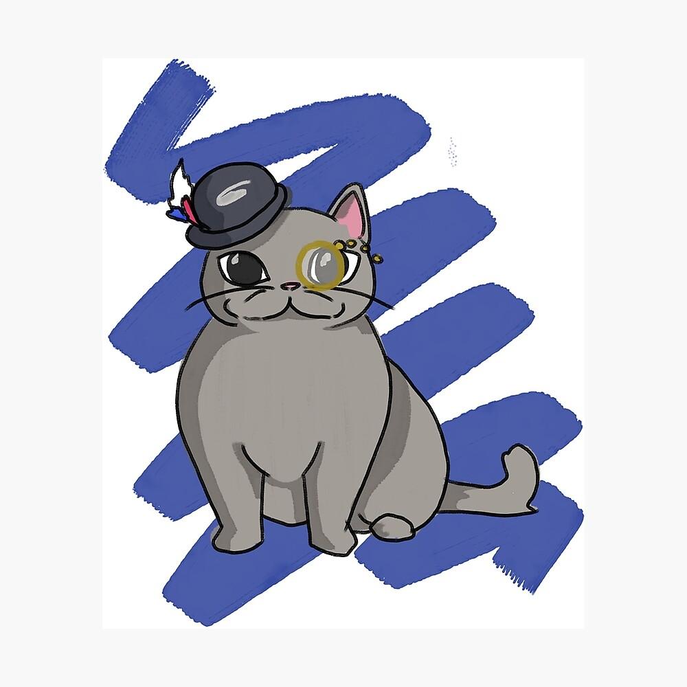 Gato raso británico de pelo corto Lámina fotográfica