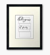 Cheerful Nothingness (Nihilism) - White Ver. Framed Print