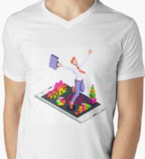Isometric Vector 3D Businessman Infographic Business Man Jumping T-Shirt