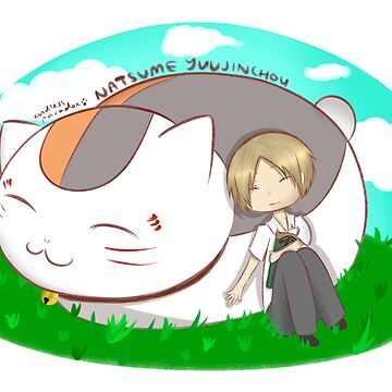 Natsume and Nyanko-sensei by Gracelkm