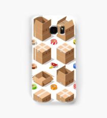 Cardboard Delivery Box Packaging 3D Isometric Vector Icons Samsung Galaxy Case/Skin