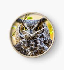 Great Horned Owl Clock