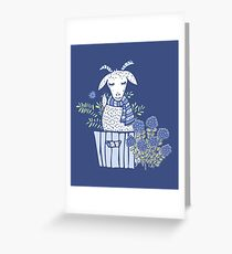 Goat in a Box Greeting Card