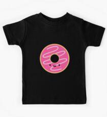 Cute Happy Pink Donut Kids Tee
