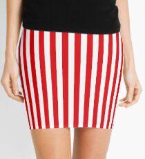 Red Stripes Mini Skirt