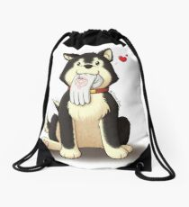 Black Hayate Drawstring Bag