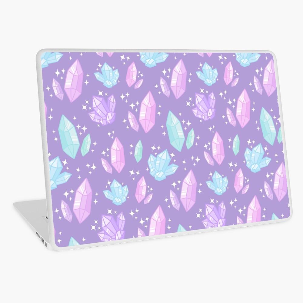 Magische Kristalle // Lila Laptop Folie