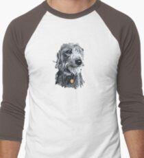 Cute stylized scruffy pup Men's Baseball ¾ T-Shirt