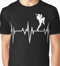muay thai heart beat thailand martial art Graphic T-Shirt