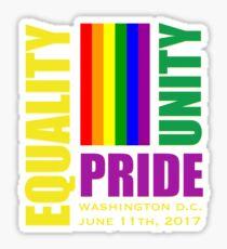 Equality March 2017 - June 11, 2017 - Washington D.C. Sticker