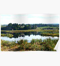 Sinclair Wetlands - Waihola-Waipori - Otago New Zealand Poster