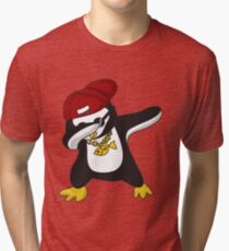 Dabbing Penguin  Tri-blend T-Shirt