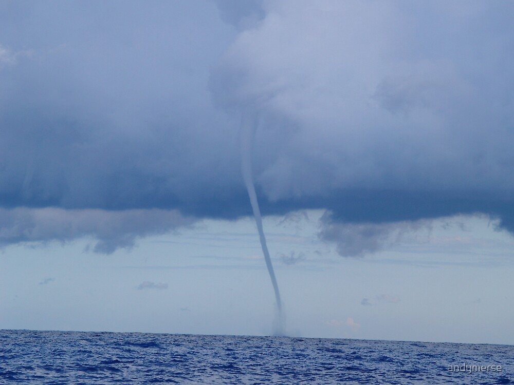 big waterspout 70 miles off the gold coast by andymerse