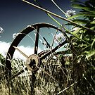 Tractor Wheel by Tony Lomas