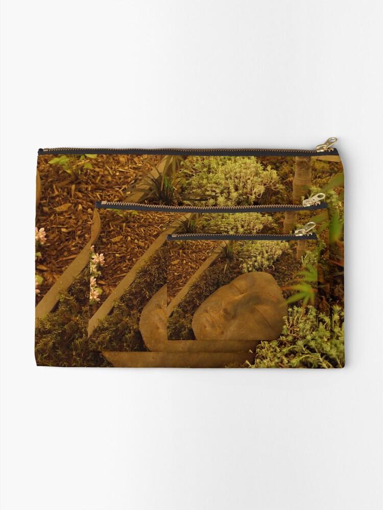 Alternate view of A Face in the Garden  Zipper Pouch