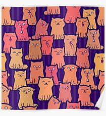 Cute ginger kittens Poster