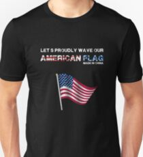 Let's proudly Wave our American Flag Unisex T-Shirt