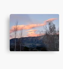 Painted Clouds - Sunrise Wanaka - NZ Metal Print