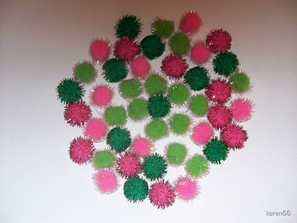 Green and Pink Puffs by karen66