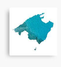 Mallorca Water Map Canvas Print