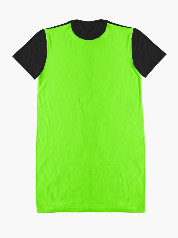 Alternate view of Super Bright Fluorescent Green Neon Graphic T-Shirt Dress
