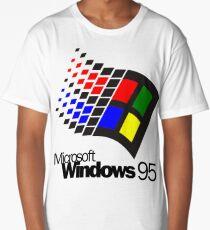 WINDOWS 95 WHITE  Long T-Shirt