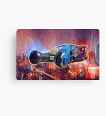 Police Car Red Canvas Print