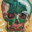 Van Gogh Skull Reproduction by AccioKaity