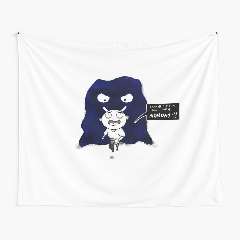 M is For Monster Monday Wall Tapestry