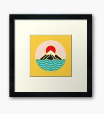 Fuji Gerahmtes Wandbild