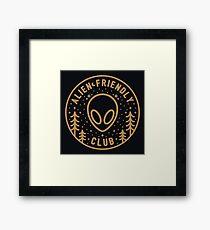 Alien Friendly Club Framed Print