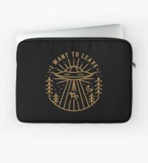 I Want To Leave Laptop Sleeve