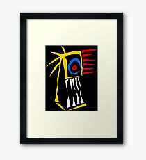 Infernal face Framed Print