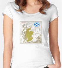 Scotland Curio Post Card Women's Fitted Scoop T-Shirt