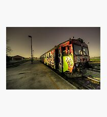 Pula Graffiti train  Photographic Print