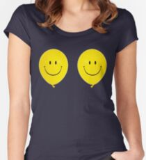 Happy Face Balloon All Smiles stickers Women's Fitted Scoop T-Shirt